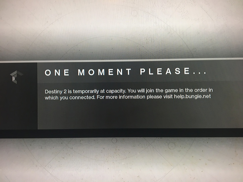 One Moment Please- Waiting screen